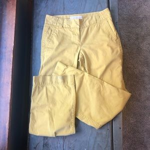 J Crew Favorite Fit Chino mustard yellow size 2R